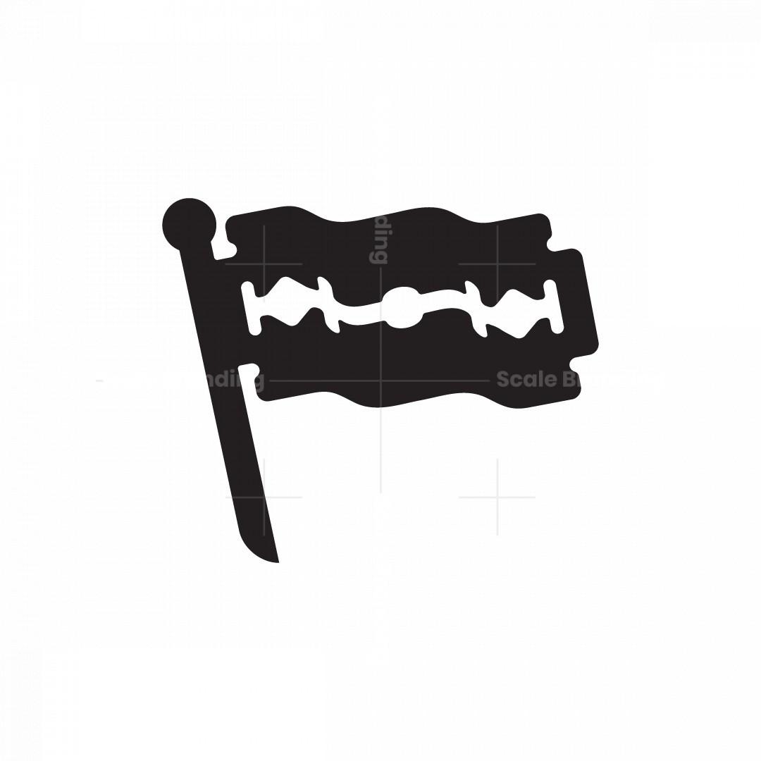Razor Blade Flag Logo