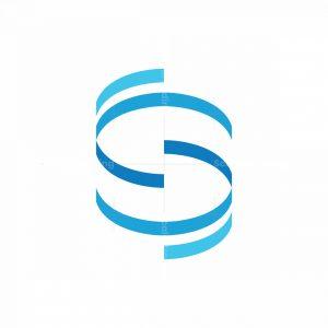 Letter S Or N Tech Logo