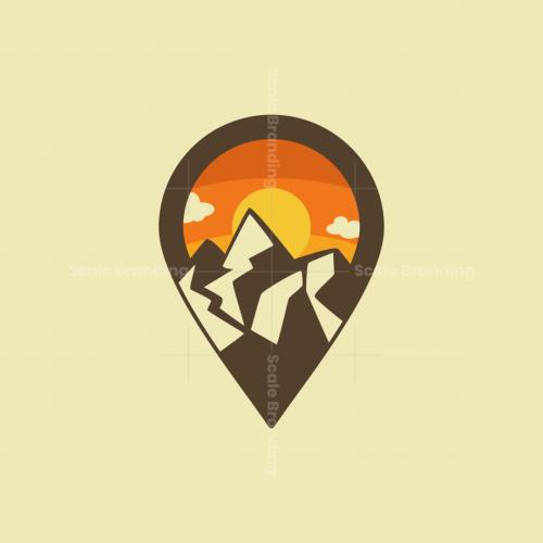 Sunset Pin Map Logo