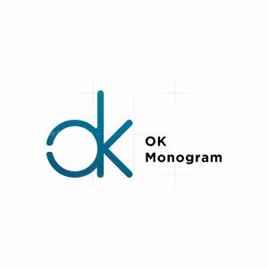 Ok Monogram Hand Logo
