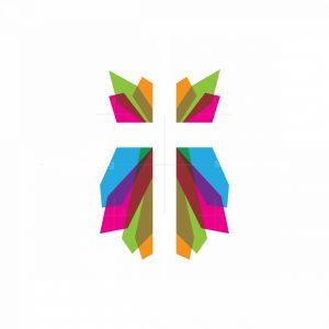 Crystal Church Cross Logo