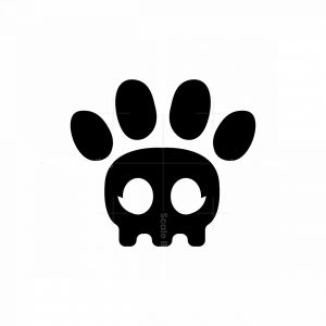 Skull Paw Logo