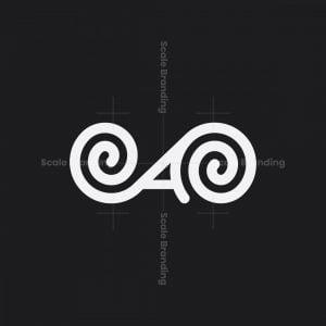 Spiral Letter A Logo