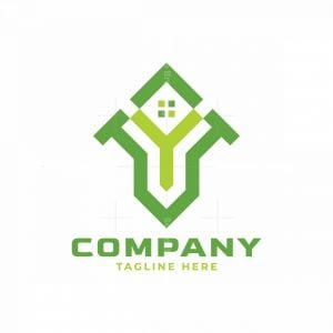 Home Logo And Letter Vy