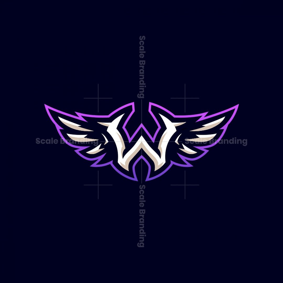 W + Wings Mascot Logo