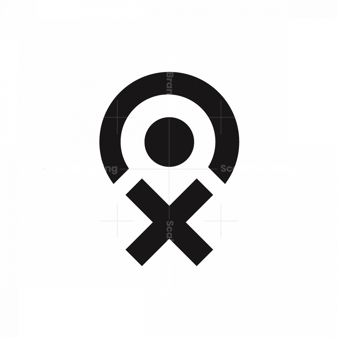 Letter Xo And Point Map Logo