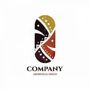 Aboriginal Shield Symbol Logo