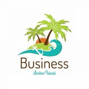 Anchor Island Symbol Logo
