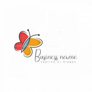Artistic Butterfly Logo