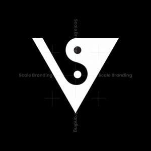 Letter As Vs Yin Yang Logo