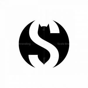 Bat Letter S Logo