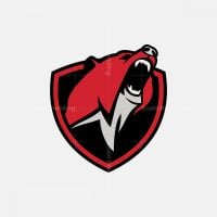Roaring Bear Mascot Logo
