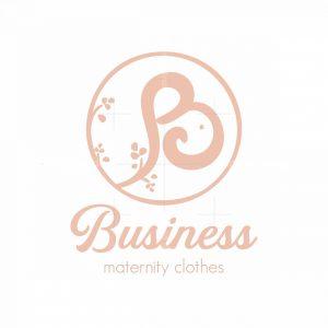 Letter B Beauty Maternity Clothes Symbol Logo