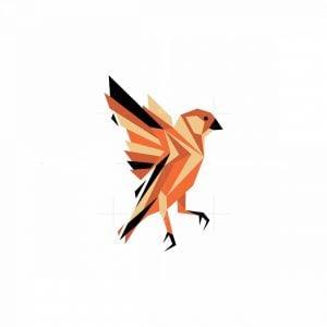 Geometric Flying Bird Mascot Logo