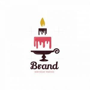 Candle Cakes Symbol Logo