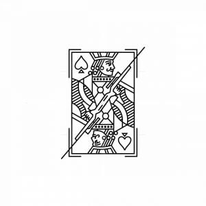Jack Playing Card Mascot With Guns Logo
