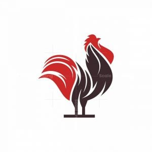 Abstract Rooster Icon Logo