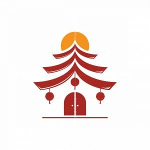 Chinese Traditional House Logo