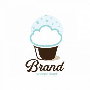 Cupcake Cloud Symbol Logo