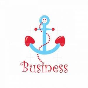 Cute Kids Baby Anchor Symbol Logo
