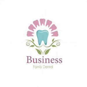Dental Care Flower Symbol Logo