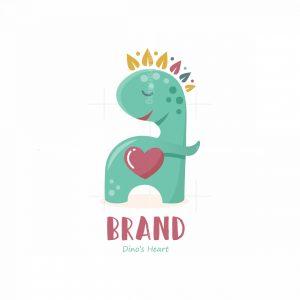 Dinos Heart Symbol Logo