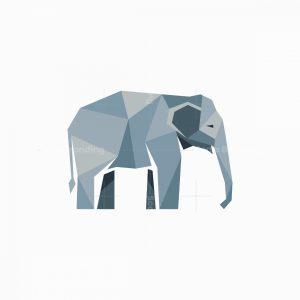 Low Poly Mascot Elephant Logo