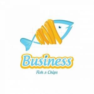 Fish And Chips Symbol Logo