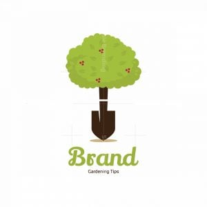 Gardening Tips Shovel Tree Symbol Logo