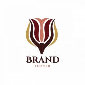 Gazelle Flower Symbol Logo