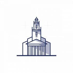 Geometric Old Building Icon Logo
