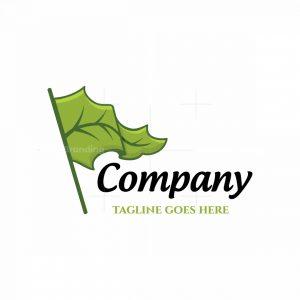 Green Flag Symbol Logo