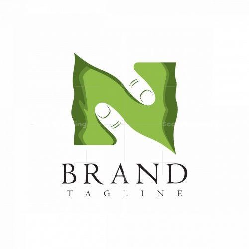 Nature Hand Letter N Or Z Logo