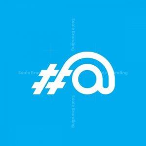 Hashtag At Logo