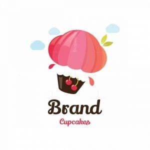 High Quality Cupcakes Air Balloon Symbol Logo