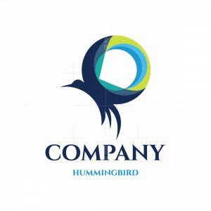 Hummingbird Circle Symbol Logo