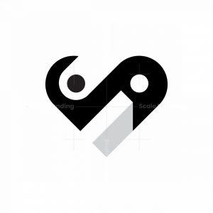 I Love Yin Yang Logo