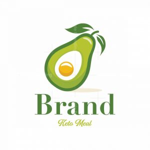 Keto Diet Meal Symbol Logo