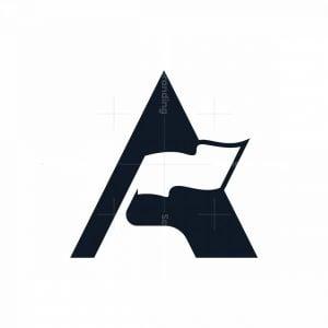 Letter A Flag Logo