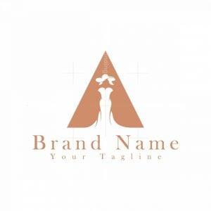 Letter A Women Dress Logo