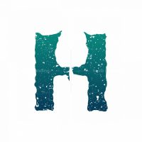 Letter H Candle Logo