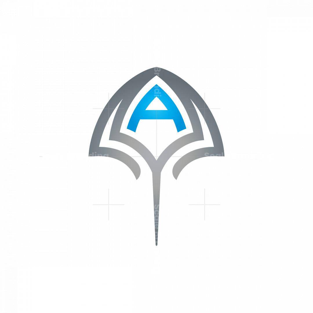A Silver Stingray Logo Manta Ray Logo