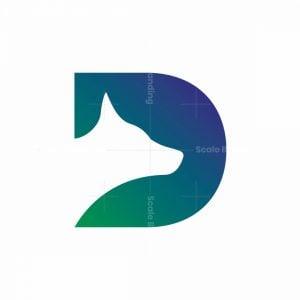 Letter D For Dog Logo