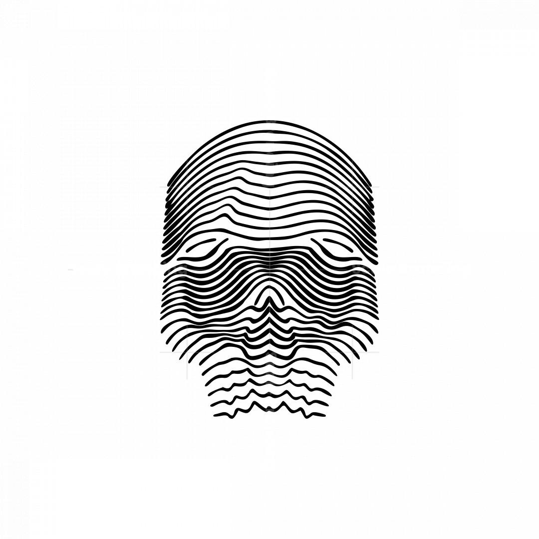 Line Art Skull Icon Logo