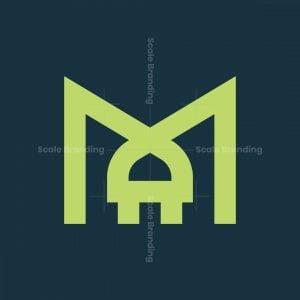 Letter M Plug Logo
