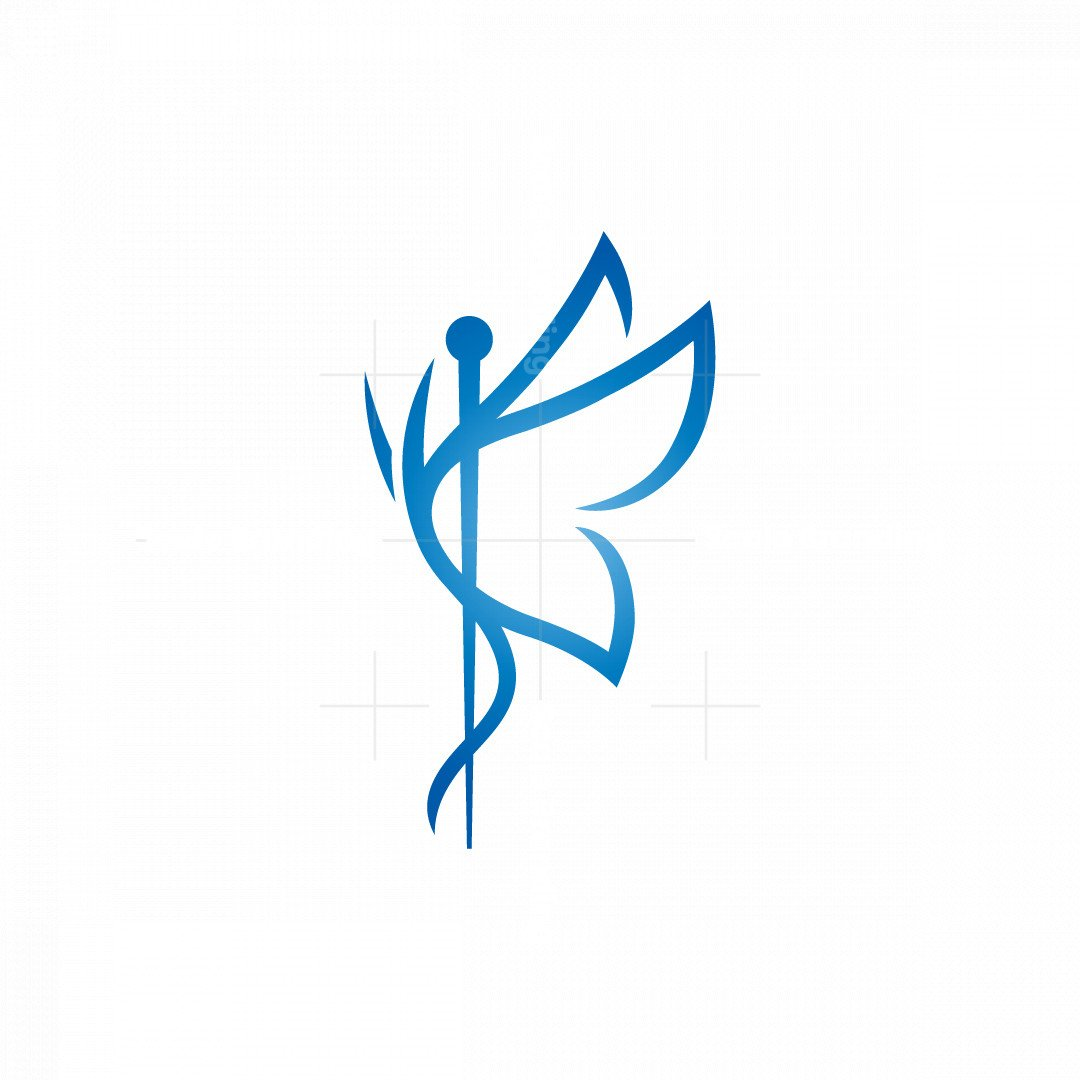 Pharmacy Medical Butterfly Logo