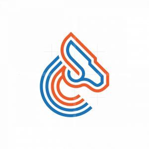 Geometric Horse Logo