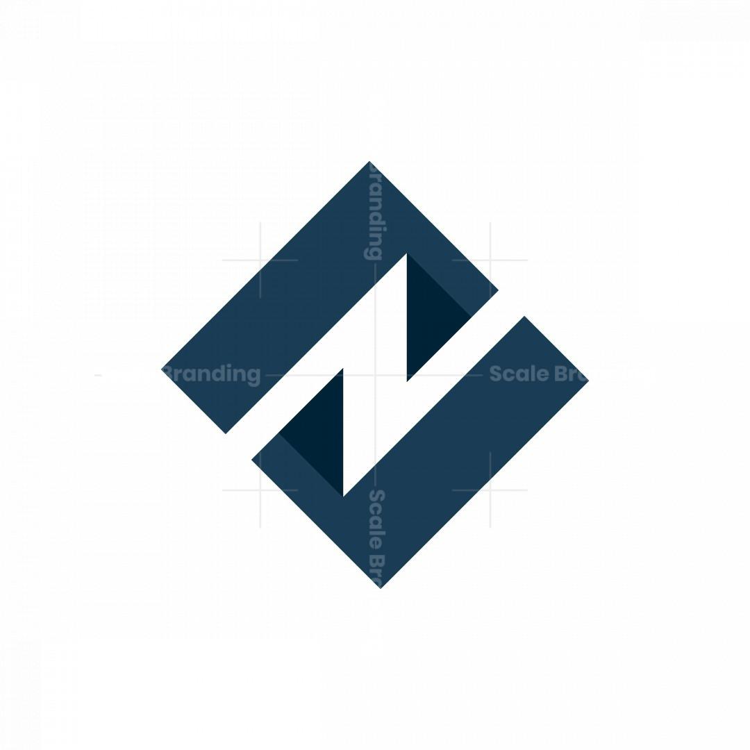 Mountain Letter N Or Z Logo