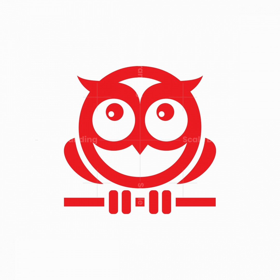 Little Owl Mascot Logo