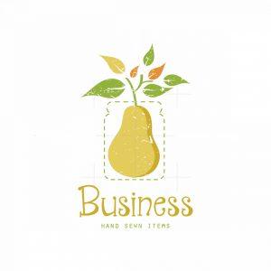 Pickled Pear Symbol Jar Logo